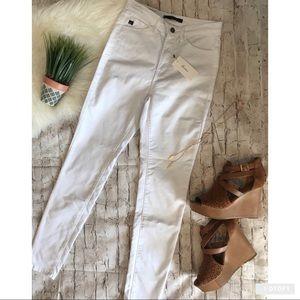Kancan white high rise skinny jeans